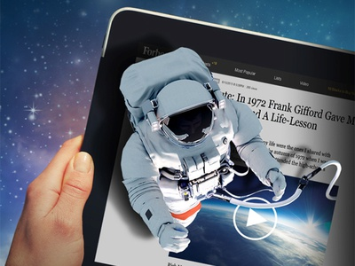 Teads Spaceman tablet spaceman space native video inread