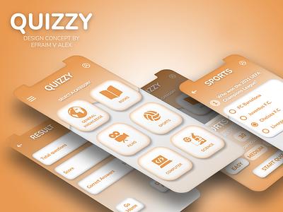 Quizzy app design ux graphic design ui