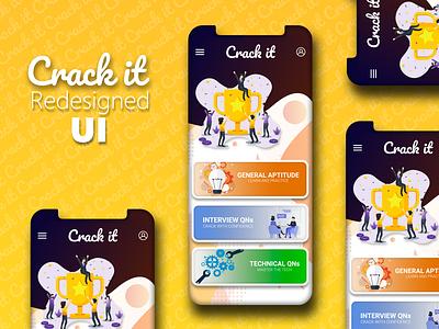 Crack IT App uidesign flutter mobiledeveloper uxdesign uiuxdesign ux branding ui