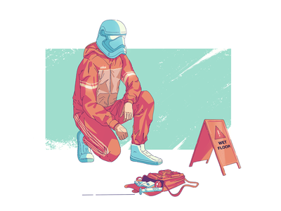 Wet Floor palette pallet wet jedi procreate starwars illustration design art illustration