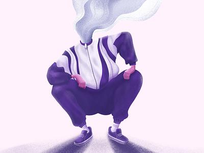 Vape Master Illustration texture procreate vaper vape color illustration