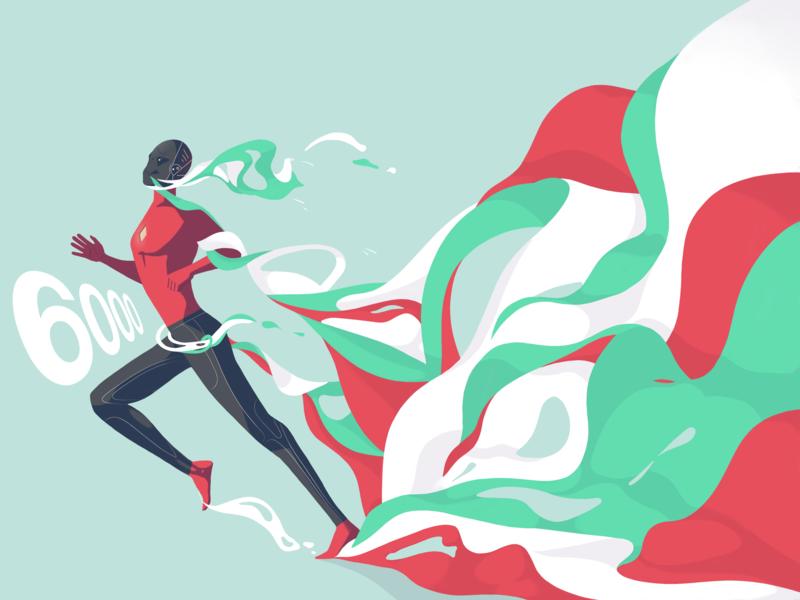 6K Followers design art illustration procreate colors followers 6k