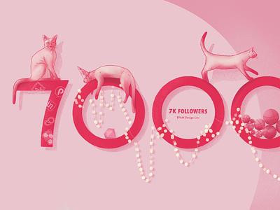 7K Followers illustration photoshop procreate principle invision figma sketch cats design color epam art