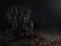 Throne of Tyres C4D + PS