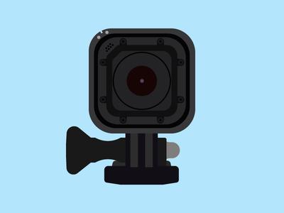 GoPro Hero 4 design flat design flat video camere glass black vector illustration video shot camera gopro
