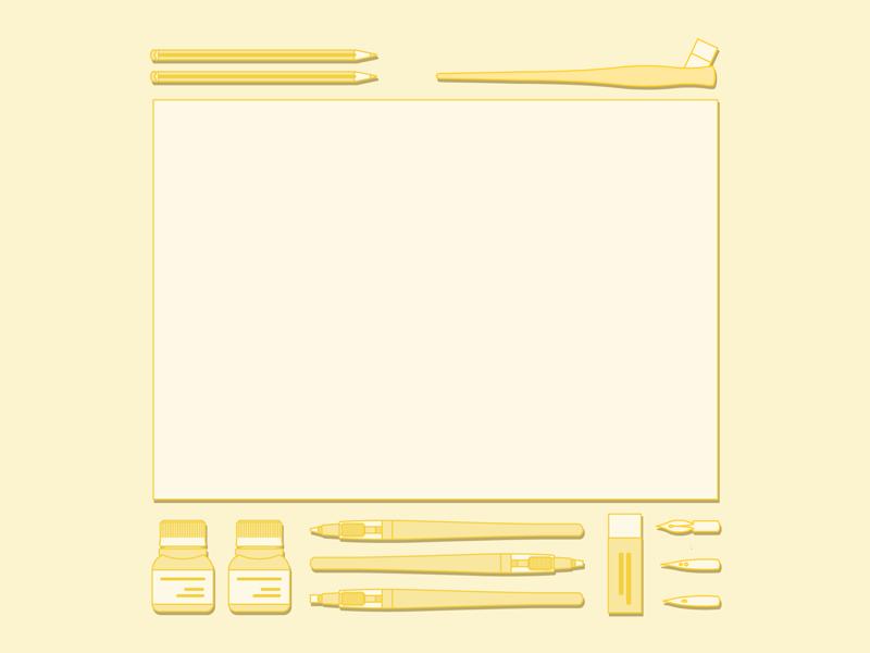 Essentials of illustrator pen illustrator elements monocromo flat yellow essentials