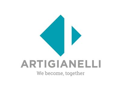 Artigianelli's logo restyling linear minimal logo design brand rebranding logo
