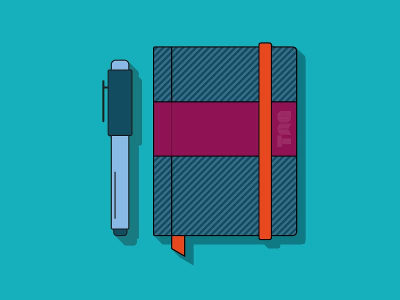 Sketchbook - TAG sketch book tag colorful pattern pen sketchbook vector