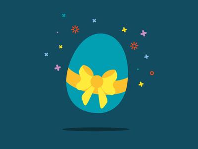 Easter Egg vector colorful fly tape egg easter