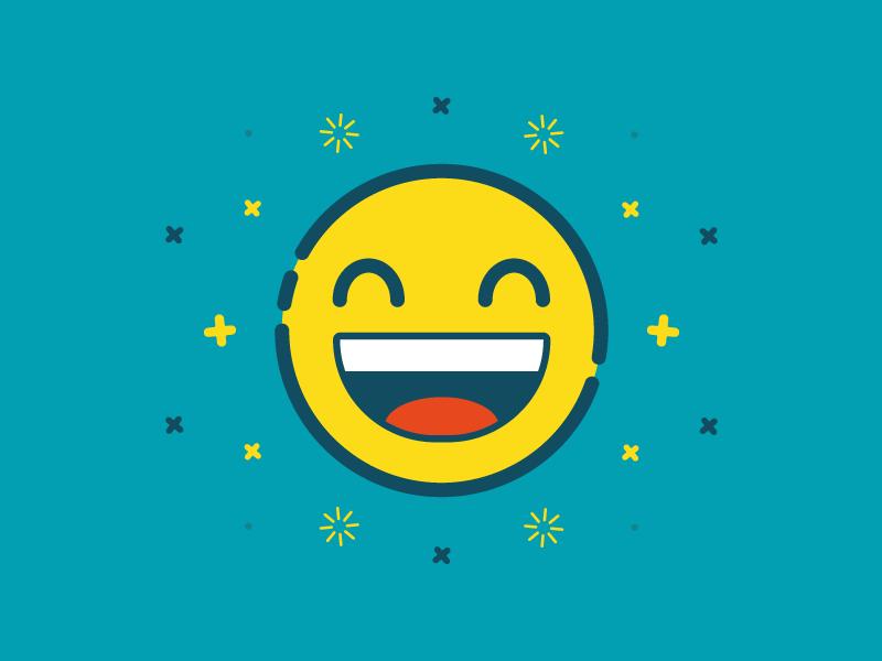 Happy Emoji happiness vector flat happy emoticon emoji