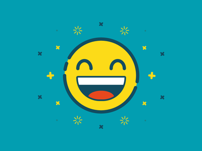 Happy Emoji happiness vector flat happy emoticon emoji