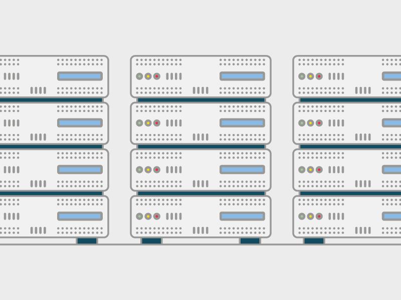 Server grey vector flat informatics server