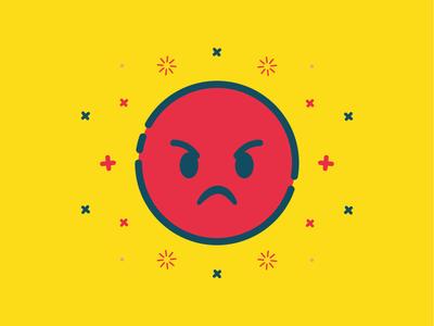 Angry Emoji angry vector flat emoticon emoji