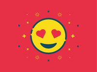 In love Emoji vector flat emoticon emoji in love love