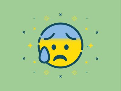 Panic Emoji vector anxiety panic flat emoticon emoji
