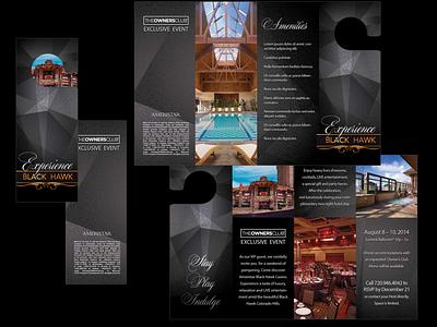 Hotel/Casino Brochure typography logo vector design branding