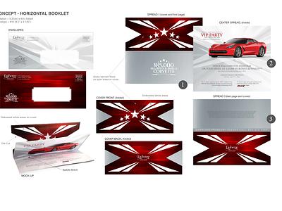 Corvette Giveaway Invite vector logo branding design typography