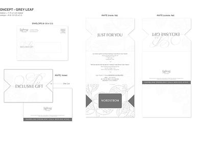 Gift card mailer / Invite vector illustration logo design branding typography