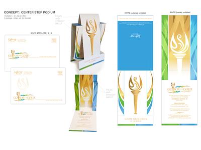Olympic Party Invitation vector logo design branding typography