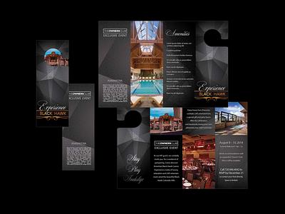 Hotel Brochure vector logo design branding typography