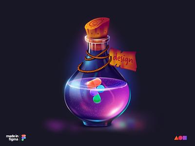 Design Potion - Figma illustration colorful liquid vial design potion nft illustration figma
