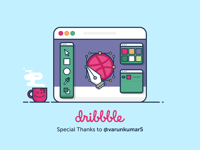 Hello Dribbble! thank you welcome clean flat dribbble hello ui debut