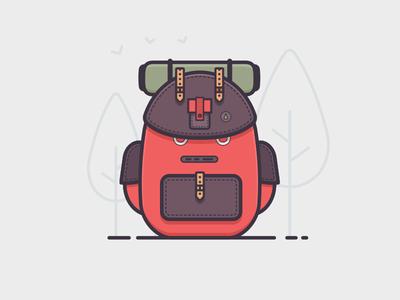 Travel Bag lineart minimal travel red days 100days bag travel bag backpack