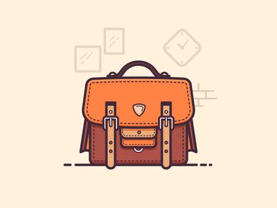 Office Bag flat minimal lineart illustration daily 100days office bag bag