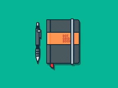 Designer Favorite Tool dot grid book journal moleskine 100days daily green minimal pen designer tool nootbook dairy pencil