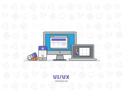 Improve UI/UX daily 100days minimal mobile ux ui laptop mac workspace