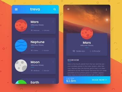 Space Travel UI