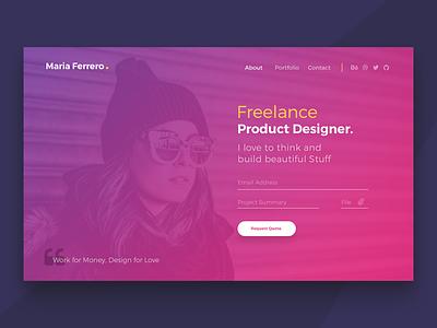 Freebies - Ferrero Landing Page dailyui freelance website app flat ui startup landing page freebies