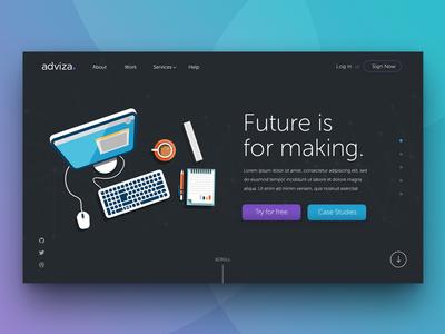 Parallax Scrolling Webpage - Adviza