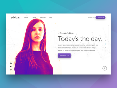 Parallax scrolling webpages - Adviza scrolling ux web design parallax landing page startup ui flat sale advertisment website