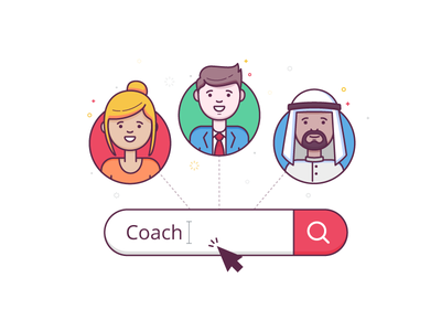 Schedule Meeting Illustrations  arab boy girl lineart minimal search profile character avatar