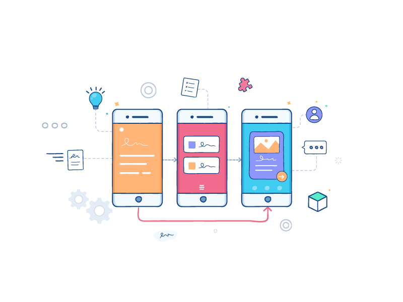 Rapid Prototype Service web service illustration mobile ui ux prototype rapid prototype