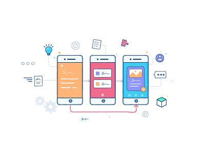 Rapid Prototype Service web service illustration mobile ui ux prototype rapid prototype