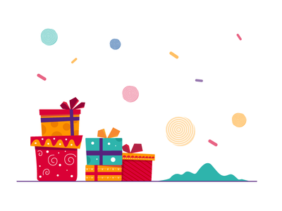 Christmas Gifts - Freebie freebie flat vector artwork illustration gift xmas christmas