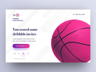 2x Dribbble Invites invitation draft freebie web invite invites dribbble giveaway