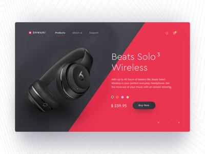 Sound Product Shop UI