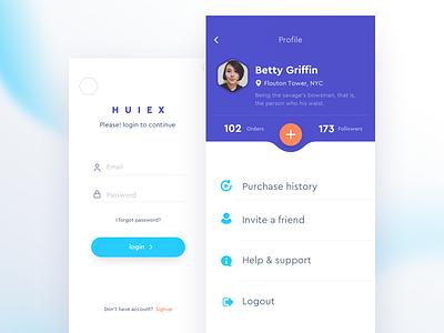 Profile Screen UI app profile login clean minimal iphonex ios iphone