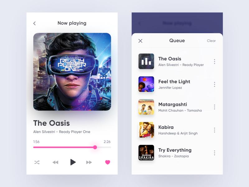 Music Player UI player music iphonex clean flat app ios ui minimal