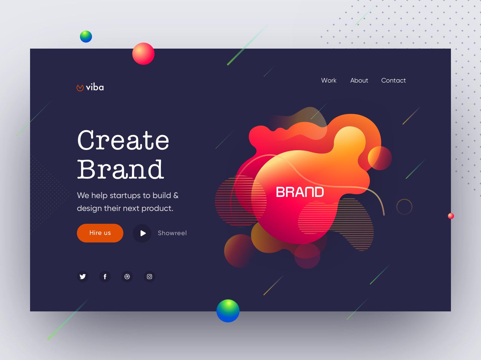 Design Agency Web Ui branding web design gradient minimal ux ui design web