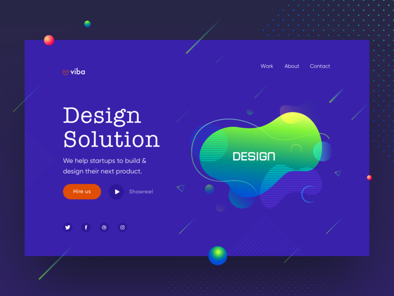 Design Agency Web UI #2 designing gradient color flat ui logo web web design branding