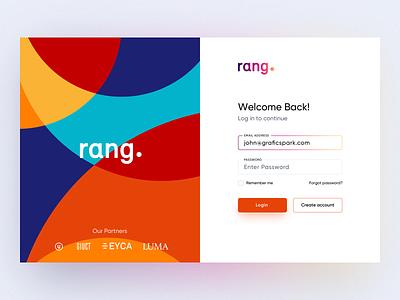 Rang Login UI daily ui ui login signup web artist color clean minimal