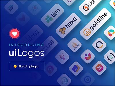 uiLogos - Sketch Plugin logomark typography web icon app sketch plugin uilogos logos sketchapp ux ui minima plugin sketch logo minimal