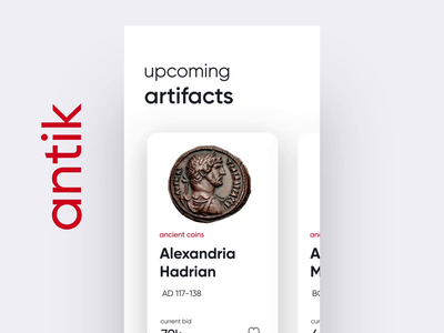 Bidding Artifacts UI shopping profile artifacts bidding motion ios ux ui interaction after effects aep