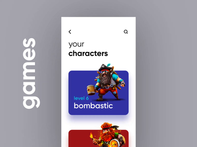 Game Characters UI