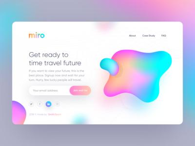 Freebie - Miro Landing page UI