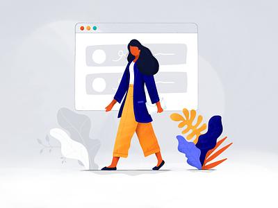 Online Shopping modern design ui online shop shopping color illustration